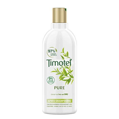 Timotei Après Shampoing Femme Pure Extrait de Thé Vert Bio 100% d'origine naturelle Cheveux normaux regraissant vite 300ml