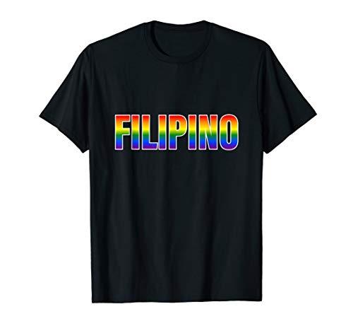 Rainbow Filipino Gay Pride LGBT Pride T-Shirt
