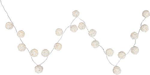 Guirlande lumineuse Noel boules rotin luminaire éclairage décoration luminaire salle de séjour