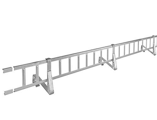 Schneefanggitter Rotbraun, inkl. Auflageschutz 2,0 m, 9-teiliges Set | 225 kg pro Meter stark |universales Schneefangsystem, blitzschnell montiert
