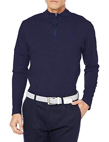 [キャロウェイ] [メンズ] 長袖 ハーフジップ シャツ (吸湿発熱性) / 241-0233508 / ゴルフ ウェア 120_ネイビー 日本 3L (日本サイズ3L相当)