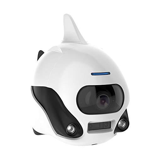 Drone Submarino Robot Submarino Robot de Peces pequeños Sumergible inalámbrico Mando a Distancia para Drone con cámara 4 K HD, conexión WiFi Bionic diseño Peces Robot Mascota en Piscinas y Lagos