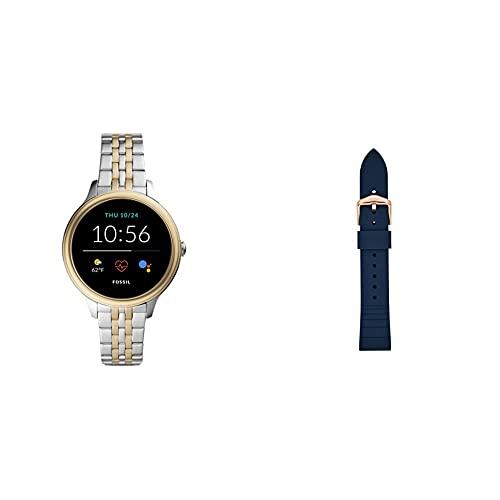 Fossil Connected Smartwatch Gen 5E para Mujer con tecnología Wear OS de Google, frecuencia cardíaca, NFC y notificaciones smartwatch + Correa de Reloj S181370