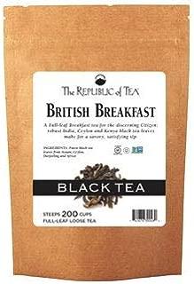 The Republic of Tea British Breakfast Full-Leaf Black Tea, 3.5 Ounces / 50-60 Cups (Refill Bag)