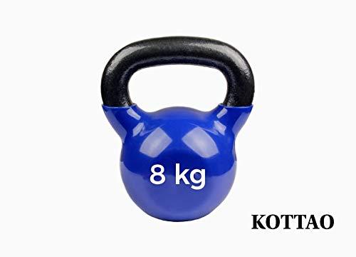 Natural Logistics Pesa Rusa Pro 8-10-14Kg. Kettlebell Resistente. Kottao (Azul, 8 Kg)