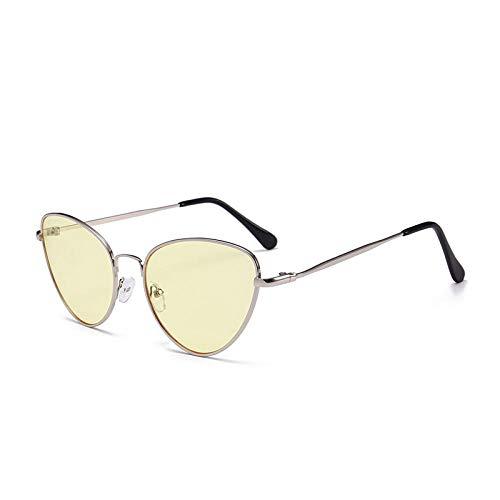 U/N Gafas de Sol pequeñas Vintage para Mujer, Gafas de Sol Rojas y Negras clásicas, Gafas de Sol para Mujer, Gafas Retro-6