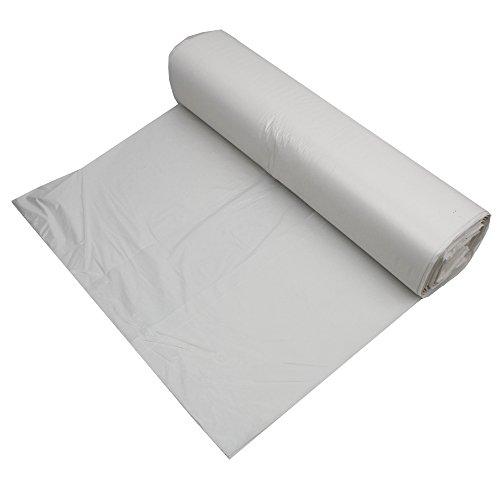 Bolsas de basura de 40 L - Rollo de 100 bolsas de basura - Blancas