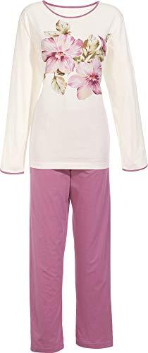 laritaM Schlafanzug mit Druckmotiv Single-Jersey Fb. Natur Größe 52/54