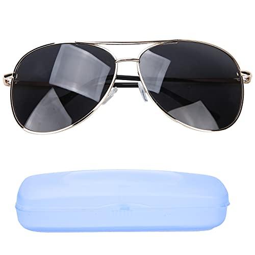 Gafas de sol deportivas polarizadas Gafas a prueba de rayos ultravioleta para hombres Mujeres Conducción Correr Ciclismo Pesca Protección Gafas de sol Montura dorada Lente gris negro Gafas de golf de