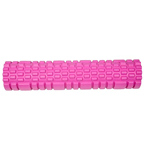 KDOAE Rodillo de Espuma Columna de Yoga en 5 Colores Adecuado para Uso doméstico 62cm Super Long EVA + PVC Hueco para Hacer Ejercicio en Casa (Color : Pink, Size : 14x62cm)