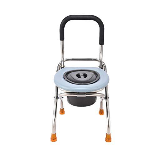 Nuitab verrijdbare toiletstoel douchestoel veiligheids-roestvrij staal anti-slip ouderen zwangere vrouwen hangers volwassenen volwassenen camping klimmen blauw