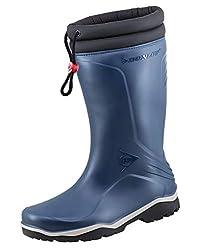 Dunlop Protective Footwear Unisex-Erwachsene Blizzard-X Kälte isolierende Gummistiefel inkluisve Hochwertigen Profilsohlenreiniger - Blau - Gr. 41
