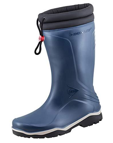 Dunlop Protective Footwear Unisex-Erwachsene Blizzard-X Kälte isolierende Gummistiefel inkluisve Hochwertigen Profilsohlenreiniger - Blau - Gr. 44