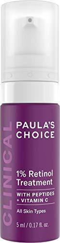 Paula's Choice Clinical 1% Retinol Serum - Suero Crema Antiedad, Antiarrugas y Reduce las Manchas - con Peptidos & Vitamina C - Todos Tipos de Piel - 5 ml