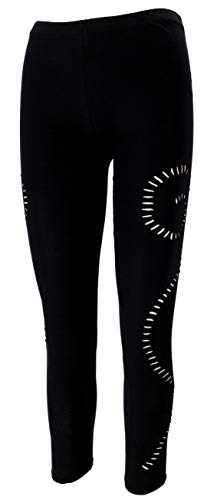 Guru-Shop Psytrance Goa Damen Leggings, Yoga Leggings, Schwarz, Baumwolle, Size:S/M (36), Shorts, Leggings Alternative Bekleidung
