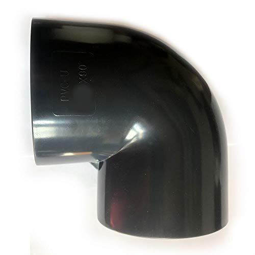 Adrenalin-Fishing PVC Fittinge 25mm Winkel Bogen 90° Druckklasse PN 10 = 10 bar nach DIN 8063 mit 2 X Klebemuffe für Koiteich & Gartenteich