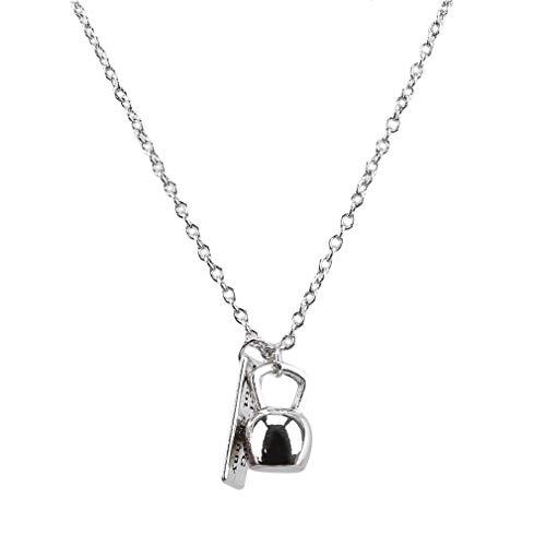Weiy Kettlebell anhänger Halskette übung Charme anhänger Fitness Gym Halskette Kette bekleidungszubehör für männer, Stil 1