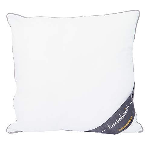 Traumschloss Kopfkissen Kuschelweich Faserkissen, Soft-Feinbatist aus 100% Baumwolle, Größe:40x40