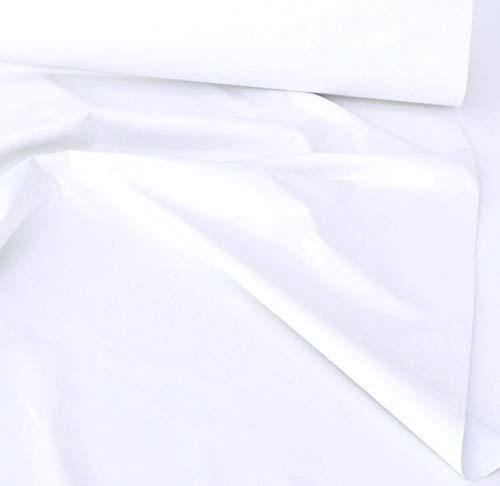 TOLKO Sonnenschutz Verdunklungsstoff Meterware   100% Lichtdicht, zum Nähen für Verdunklungsvorhänge, Gardinen oder Verdunklungsrollo (Weiß)