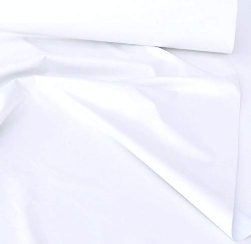 TOLKO Sonnenschutz Verdunklungsstoff Meterware | 100% Lichtdicht, zum Nähen für Verdunklungsvorhänge, Gardinen oder Verdunklungsrollo (Weiß)