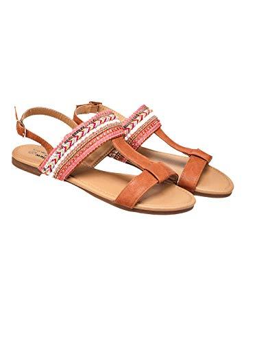 modische Sandalen Sandaletten Zehentrenner, Größe: EUR 41, Farbe: bunt mit Glitzer
