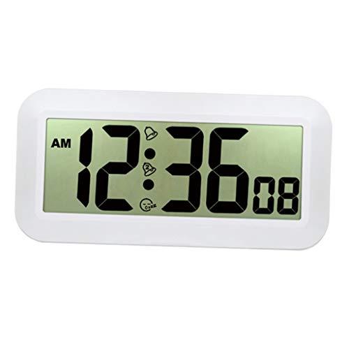 Fenteer Reloj Colgante de Digitaces del Reloj de Pared Grande Exacto de La Exhibición del LCD para El Hotel Casero