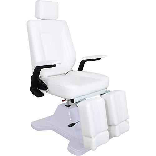 Fußpflegestuhl F0107a Hydraulisch-Mechanischer weiß