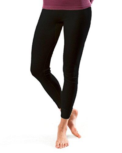Living Crafts Damen Lange Unterhose 4358 aus Bio Baumwolle, schwarz Gr. 44/46