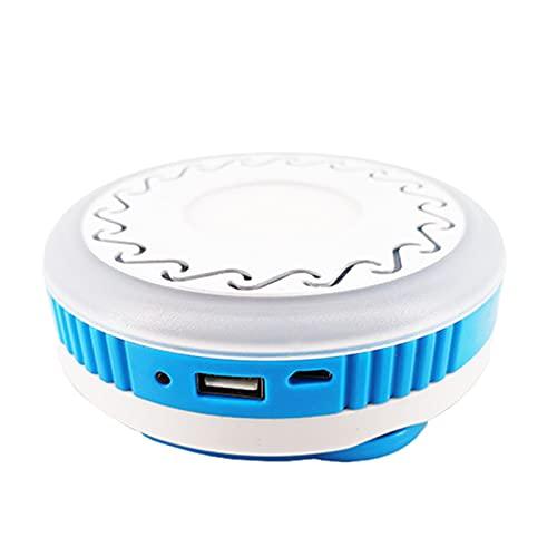ZXD Linterna para Acampar, Mini luz portátil para Acampar, 5 Modos de iluminación, 3 Luces de Tienda con Pilas AAA, Resistentes al Agua para Acampar, Hacer Senderismo, Cortes de energía y más,Azul