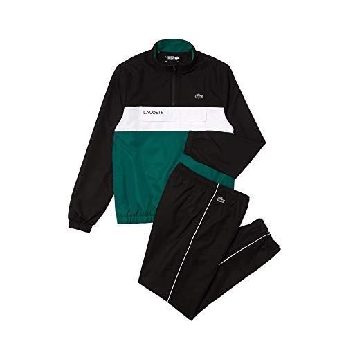 Lacoste Sport WH9540 Conjunto de chándal Hom, Noir/Bouteille-Blanc, M para Hombre