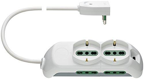 VIMAR C.B FP00520.CB Mobile Multipla 2 Presa Universale, 4P17/11 e Spb17, Bianco