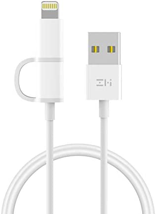 3 3ft ZMI 2 in 1 Certified MFi and Micro USB Combo Cable for iOS and Android 1 m Charging and product image