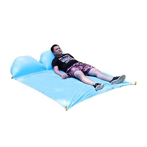 LHY DECORATION Faltbare Picknickdecke Strandmatte mit aufblasbarer, kissensandbeständiger, wasserdichter Stranddecke aus Oxford-Stoff für die Party im Freien,Two Seat