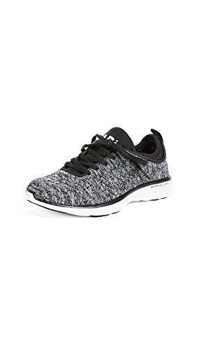 APL: Athletic Propulsion Labs Women's Techloom Phantom Sneakers, Black/White/Melange, 7 B(M) US
