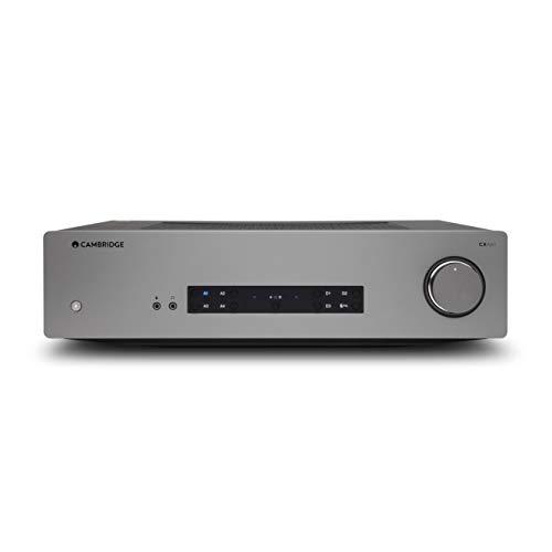 Cambridge Audio CXA61- Amplificador Estéreo Integrado de 60 vatios – aptX HD Bluetooth, 60 vatios por Canal, entradas Digitales y analógicas, USB