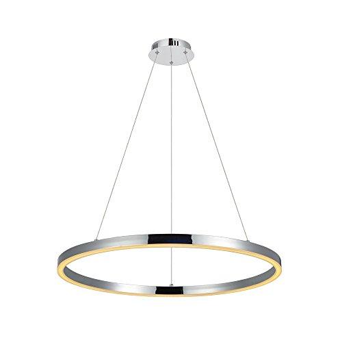 s.LUCE Ring riesige LED-Hängeleuchte Ø 100cm Chrom LED-Ringleuchte LED-Ringlampe LED-Hängelampe Ring-Pendelleuchte