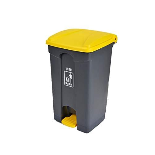 AOYANQI-Cubos de Basura Bote de Basura de Gran Capacidad, Tipo de Pedal Bote de Basura Comercial al Aire Libre Restaurante del Hotel Park Street Bote de Basura Bajo Techo, en Exteriores