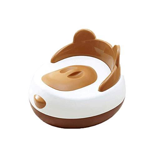 QIQIDEDIAN Toilette bébé mâle et Femelle bébé Pot d'urine Enfant tiroir de Toilette Petite Toilette Plus la Taille (Couleur : Marron, Taille : (40cm*26cm) (24cm*7cm))