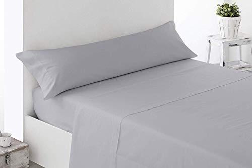 Energy Colors Textil - Excellent 105 - Juego SÁBANAS Completo 3 Piezas Verano Cama 105 x 190-200 cm (Antracita)
