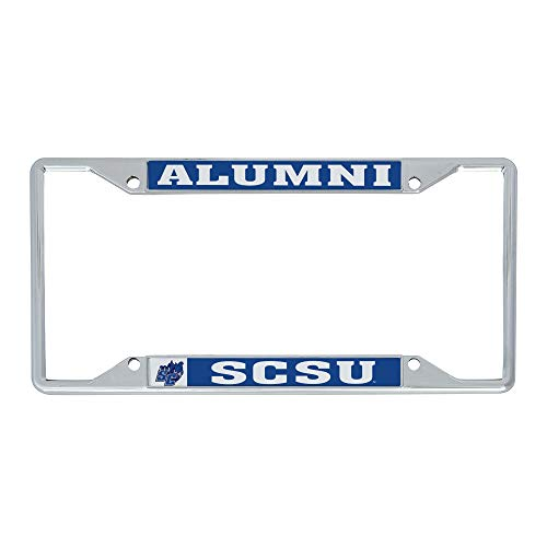 Desert Cactus Southern Connecticut State University SCSU Owls NCAA Metal License Plate Frame for Front or Back of Car Officially Licensed (Alumni)