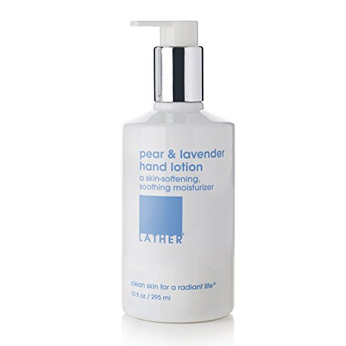 LATHER Pear and Lavender Hand Lotion 10 oz - a moisturizing hand lotion, with a fresh and fruity aroma, for everyday use