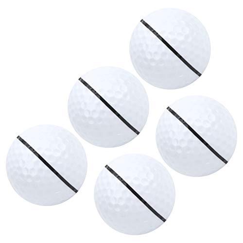 Asixxsix Pelota de práctica de Golf, Pelota de práctica de Putt de Golf de Estabilidad de Larga Distancia, 5 Piezas más Suave para Campos de Golf de Hombre