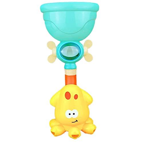 Juguetes de baño para niños, juego de agua, grifo de ducha, rueda hidráulica, barboter, conjunto de pulverización de agua para niños, animales cuarto de baño, juguetes de verano