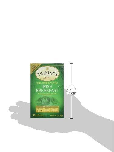 Twinings of London Irish Breakfast Black Tea Bags, 20 Count