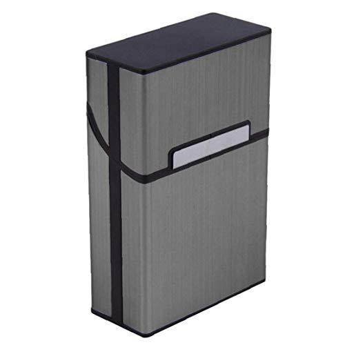 tJexePYK Boquilla de Aluminio con Estilo de Cigarrillos Caja de Metal Cigarrillos Cubierta magnética Tapa de la Caja de Fumadores Accesorios de Viaje para Hombre-