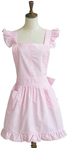 Vintage Princess Cotton Ladies Women Apron Kitchen Cooking Apron Pink