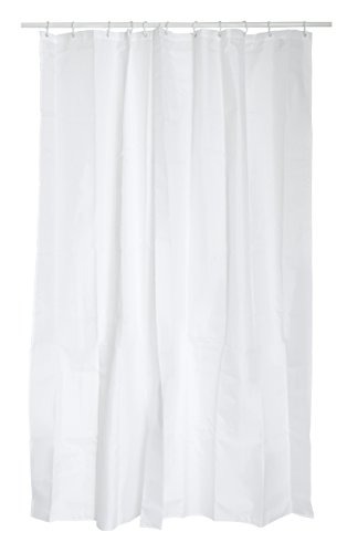 MSV Anti-Schimmel Duschvorhang - Anti-Bakteriell, waschbar, wasserdicht, mit 12 Duschvorhangringen - Polyester,