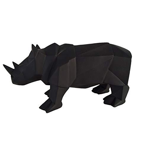 DAJIADS Figura,Figuras,Estatuas,Estatuillas,Esculturas,Forma Animal Sencillo Origami Rhino Home Decoración Arte De Salón Dormitorio Oficina Artesanía