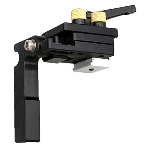 GGOOD Mitre Parada Pista T-Slot Mitre Guía tapón Chute Dedicado limitador de aleación de Aluminio para Las Herramientas de carpintería Carril guía Negro de Mano de