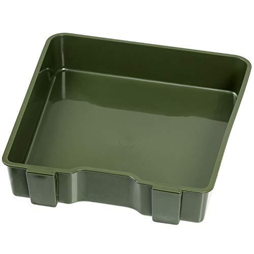 Sitzkiepe Angelbox Sitz- und Gerätekasten inklusive Vier Kunststoffboxen - Grün